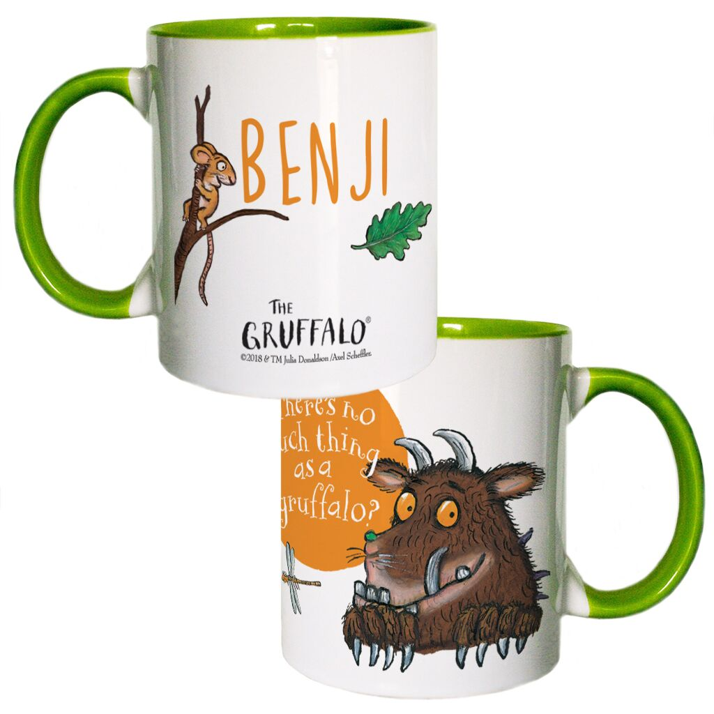 The Gruffalo - Personalised Coloured Insert Mugs