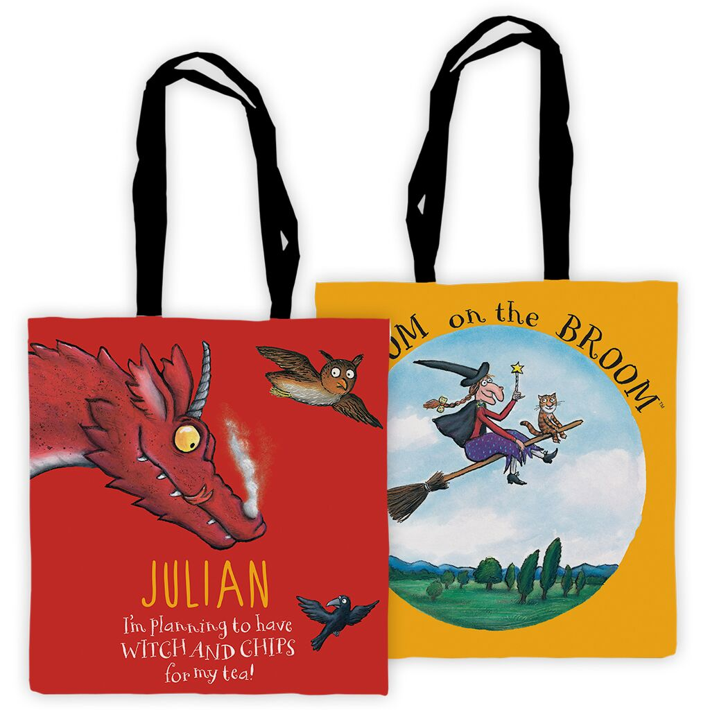 Room on the Broom - Personalised Tote Bags