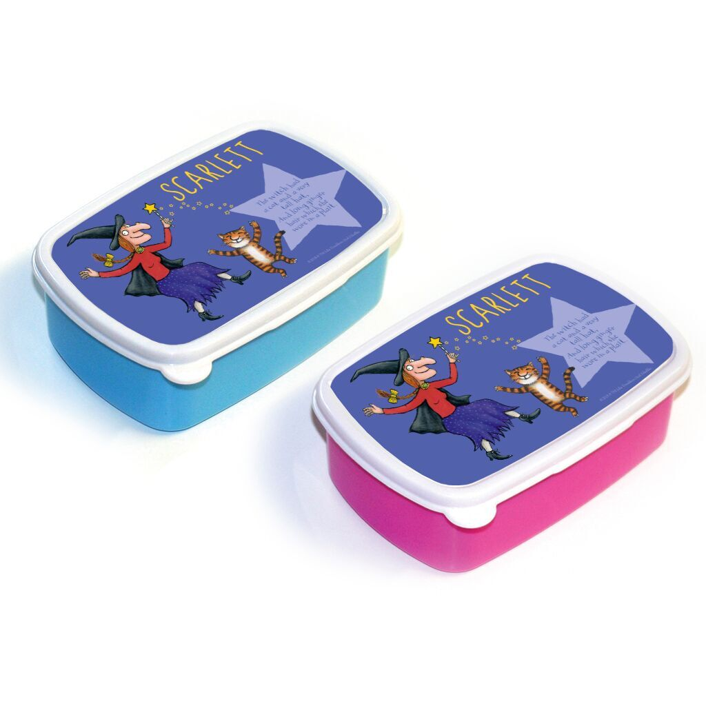 Room on the Broom - Personalised Lunch Boxes