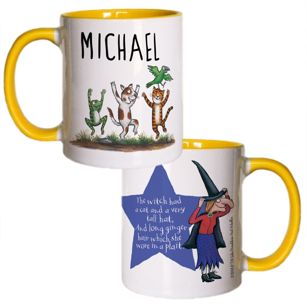 Room on the Broom - Personalised Colour Insert Mugs