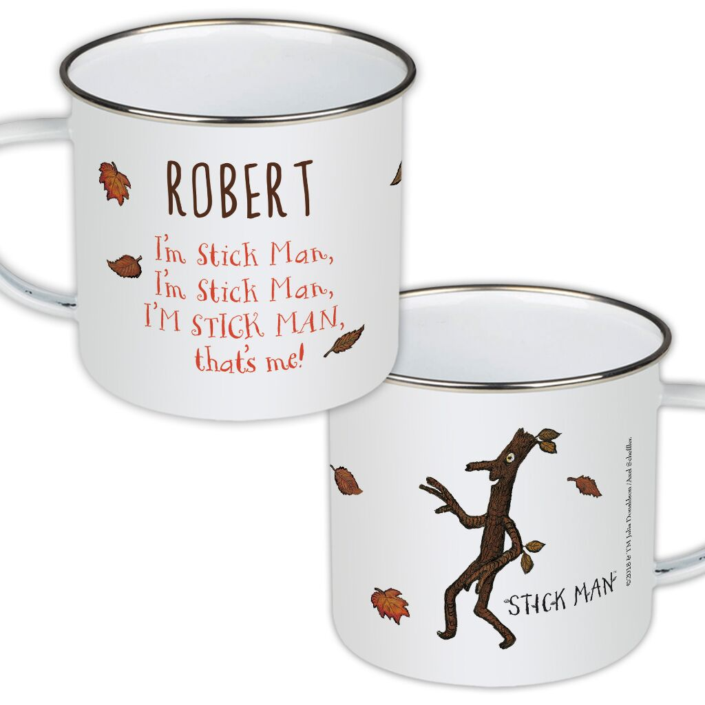 Stick Man - Personalised Enamel Mugs