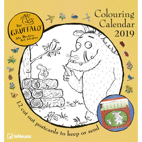 Gruffalo Colour in Postcard Calendar 2019 Accessories