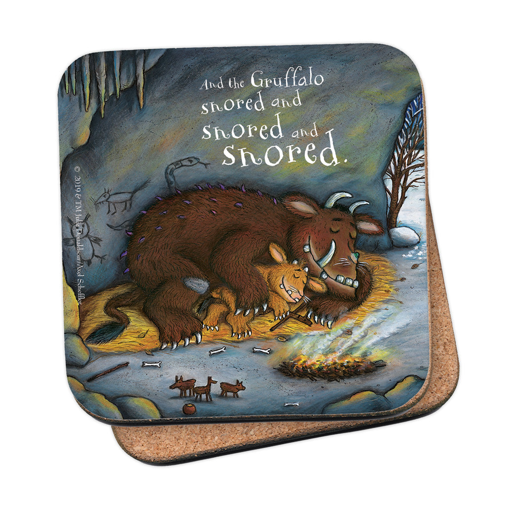 The Gruffalo's Child 'Snored and Snored' Coaster