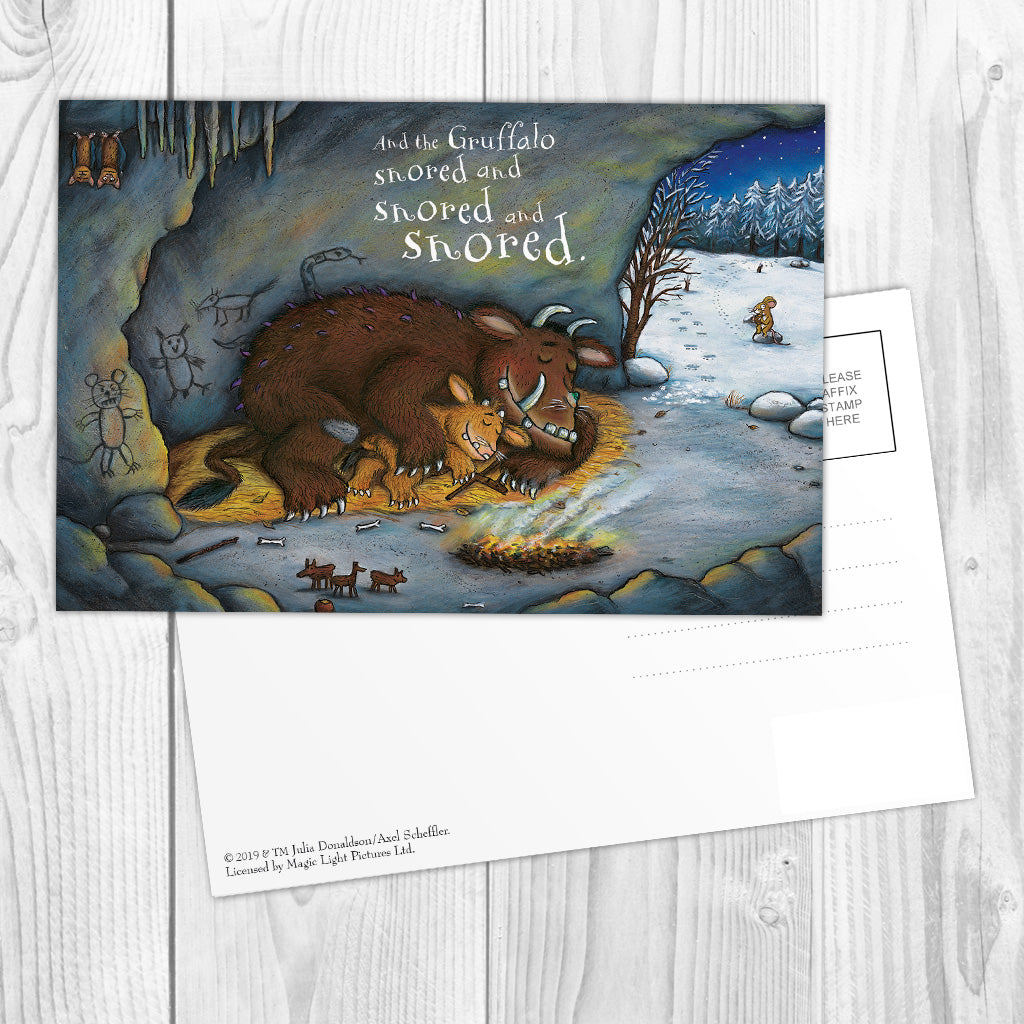 The Gruffalo's Child 'Snored and Snored' Postcard