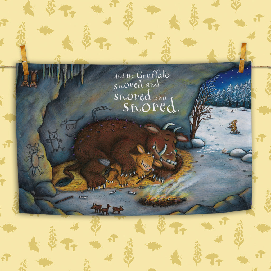 The Gruffalo's Child 'Snored and Snored' Tea Towel