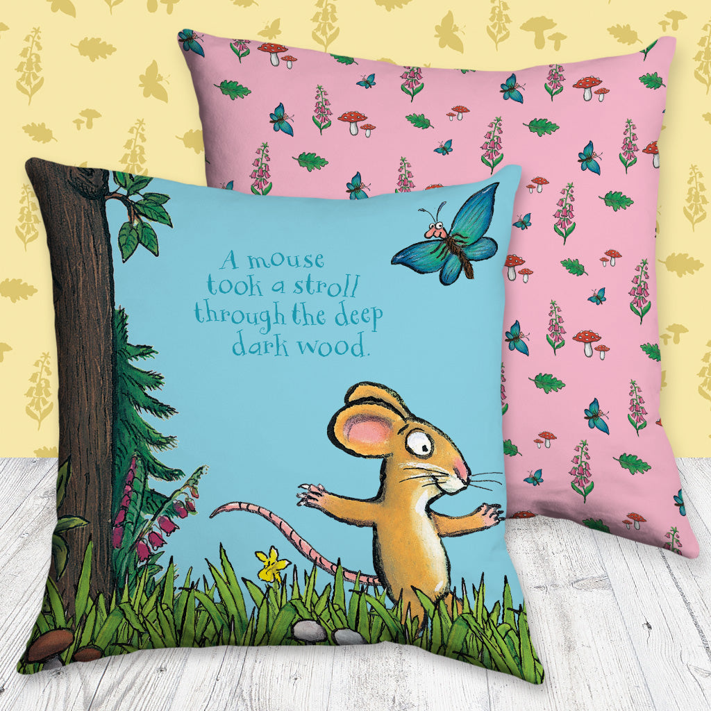 The Gruffalo 'A Mouse Took a Stroll' Cushion