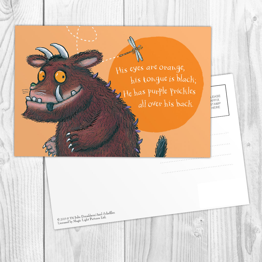 The Gruffalo 'His Eyes Are Orange' Postcard
