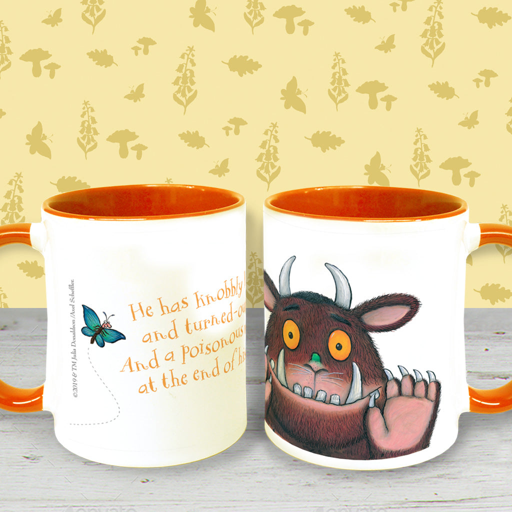 The Gruffalo 'Knobbly Knees' Coloured Insert Mug
