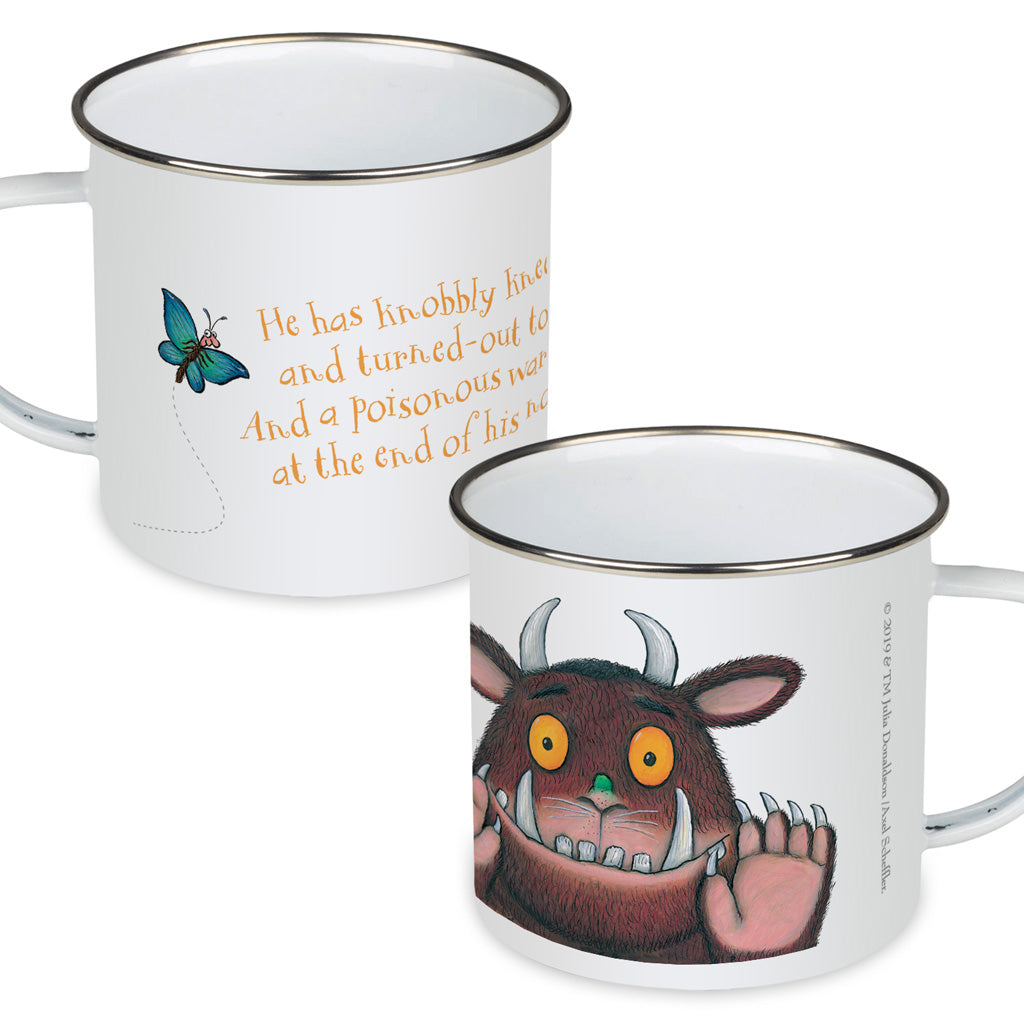 The Gruffalo 'Knobbly Knees' Enamel Mug