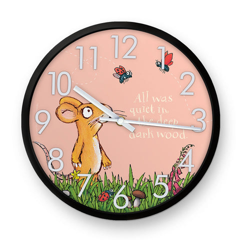 The Gruffalo 'All was Quiet' Mouse Clock