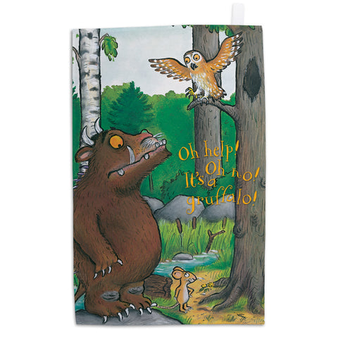 The Gruffalo 'Oh Help! Oh No!' Tea Towel