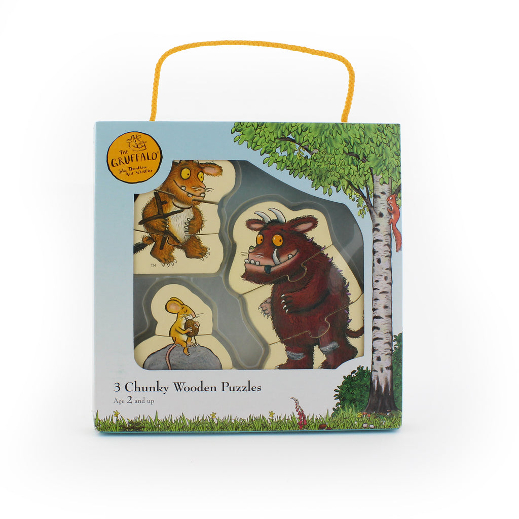 The Gruffalo 3 Chunky Wooden Puzzles