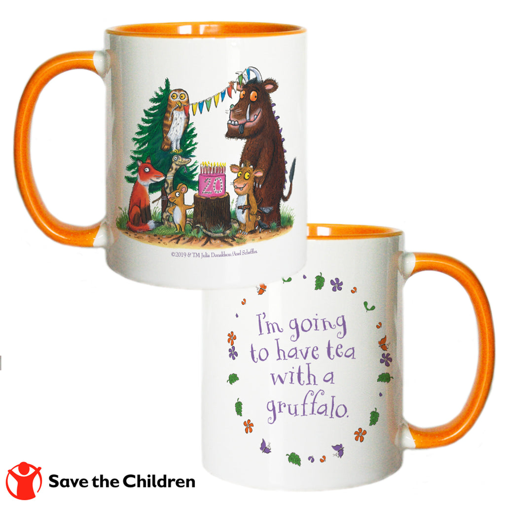 Orange Gruffalo 20th Anniversary Coloured Insert Mug