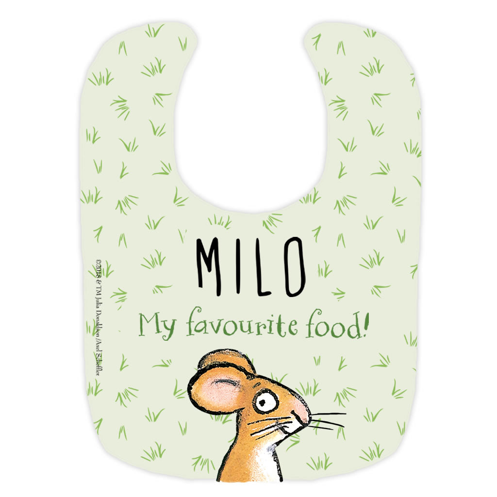 "Gruffalo ""Favourite Food!"" Personalised Baby Bib"