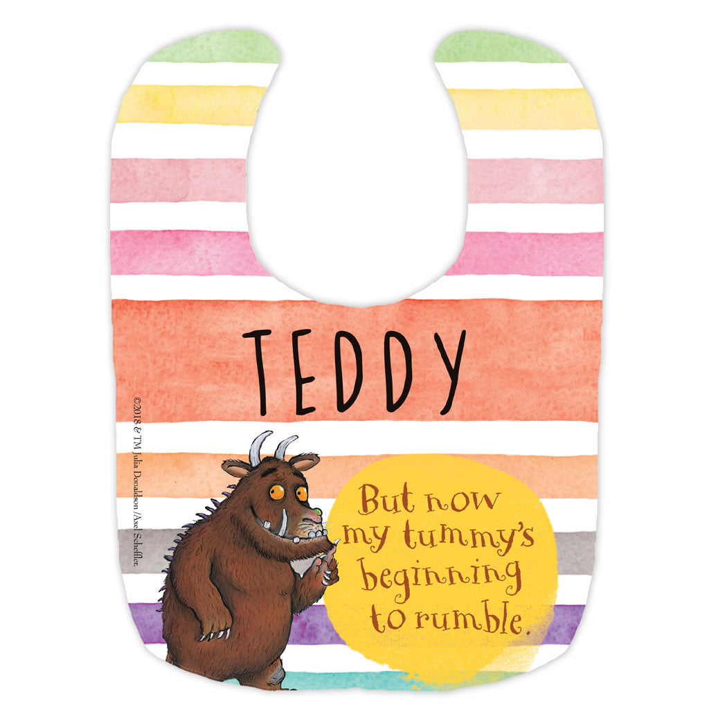 Gruffalo Tummy Rumble Personalised Baby Bib