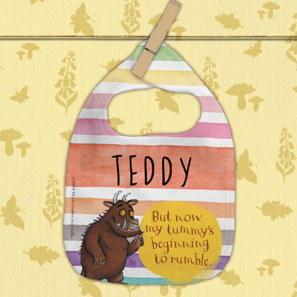 Gruffalo Tummy Rumble Personalised Baby Bib (Lifestyle)