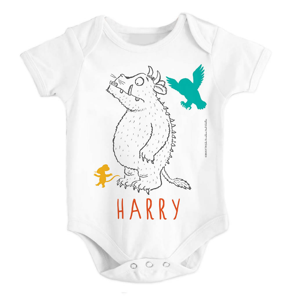 Gruffalo, Mouse and Owl Personalised Baby Grow