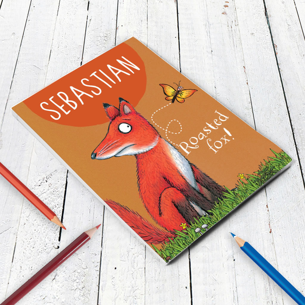 Roasted Fox Personalised A5 Notepad (Lifestyle)