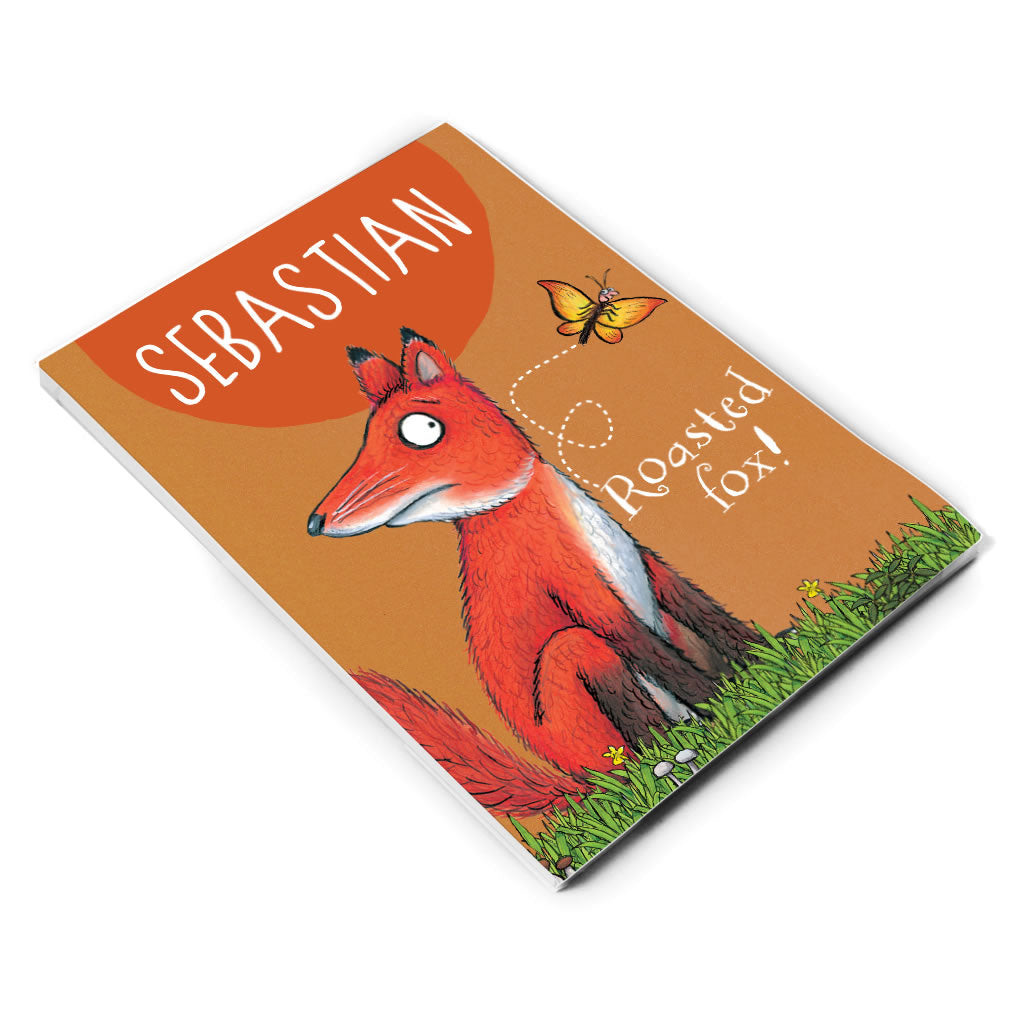 Roasted Fox Personalised A5 Notepad