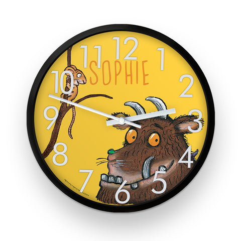 Yellow Gruffalo  Personalised Clock