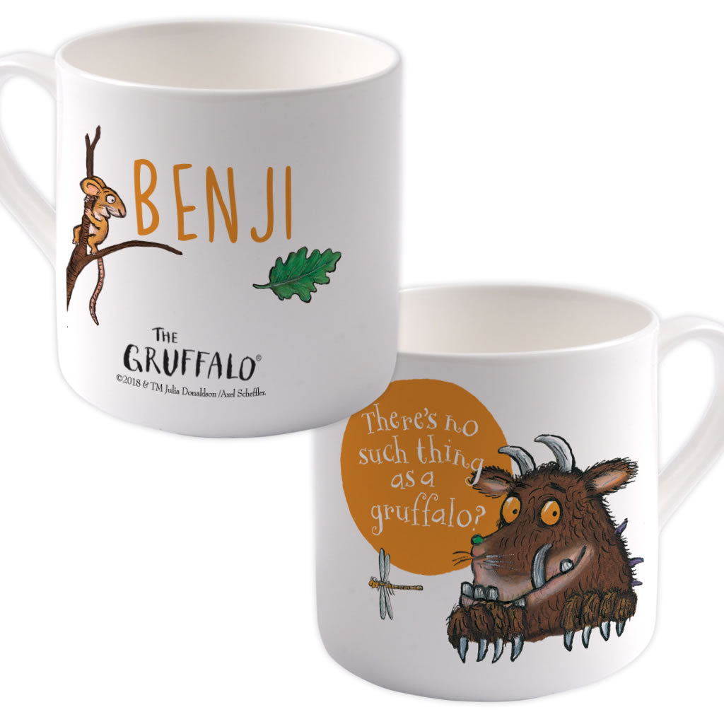 """there's no such thing as a Gruffalo"" Personalised Large Bone China Mug"