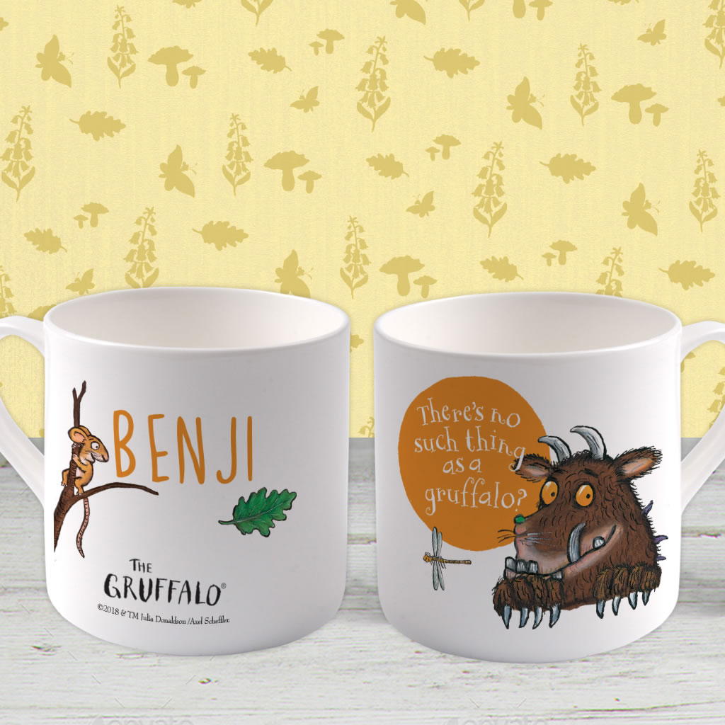 """there's no such thing as a Gruffalo"" Personalised Large Bone China Mug (Lifestyle)"