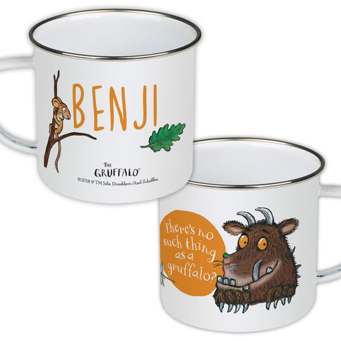 Gruffalo and Mouse Personalised Enamel Mug