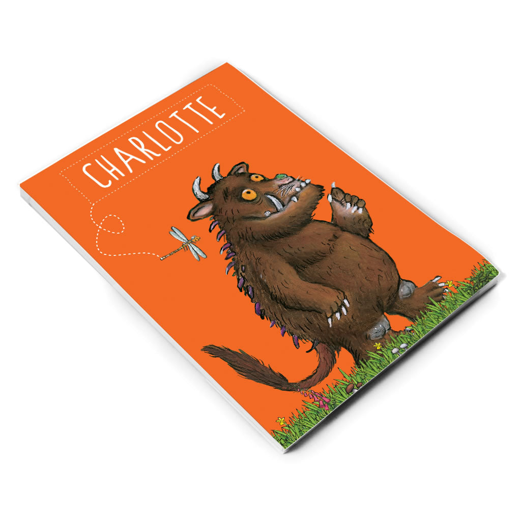 Orange Gruffalo Personalised A5 Notepad