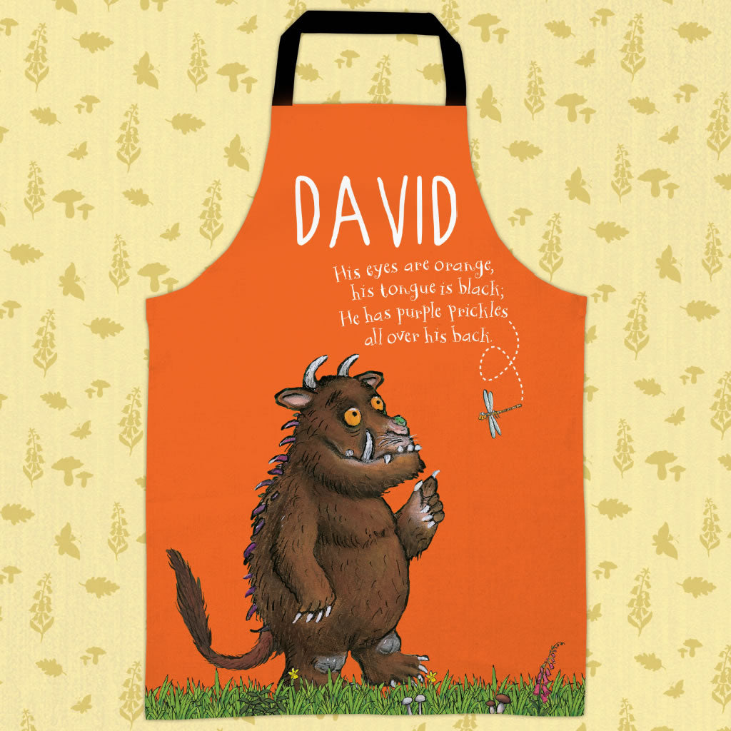 Orange Gruffalo  Personalised Apron (Lifestyle)