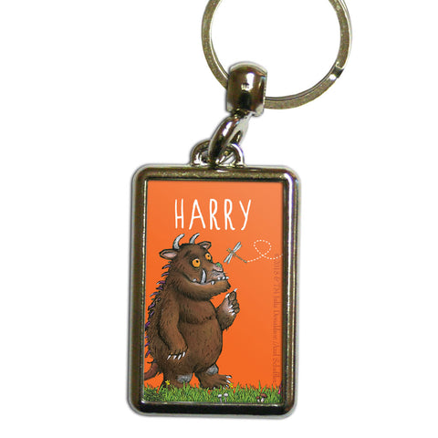 Orange Gruffalo Personalised Metal Keyring