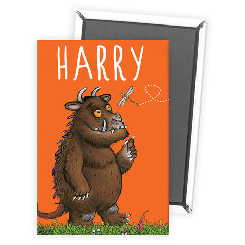 Orange Gruffalo Personalised Magnet