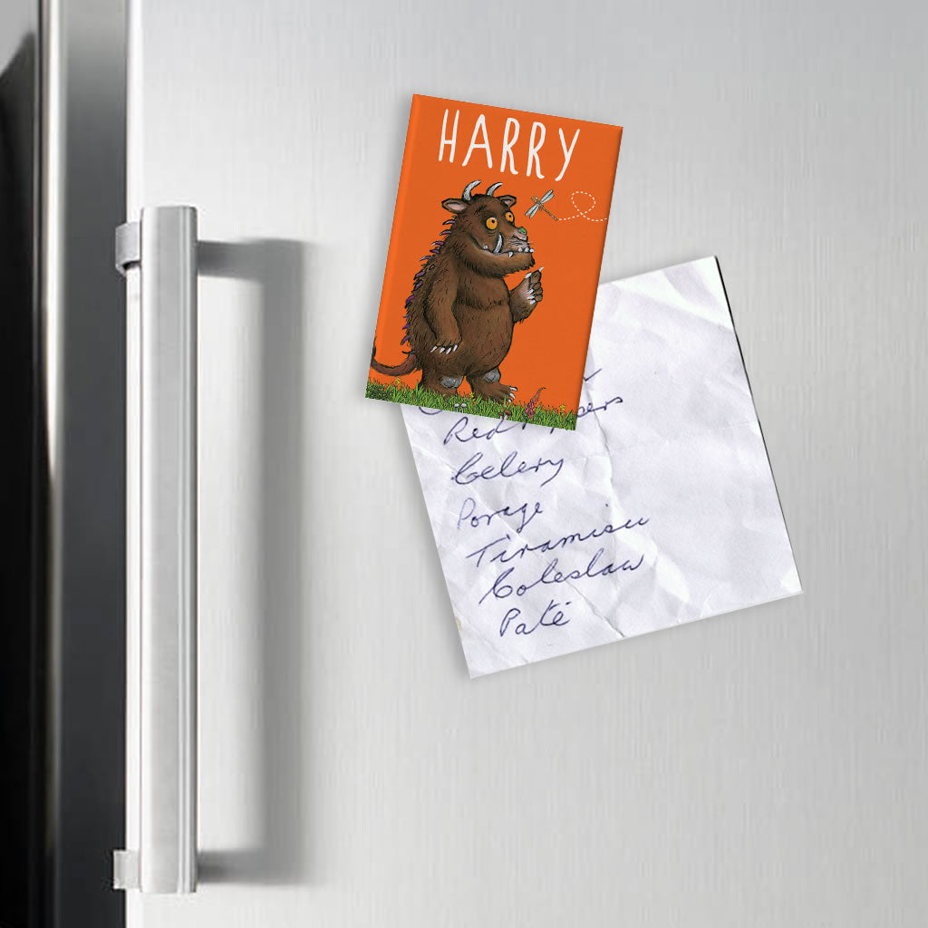 Orange Gruffalo Personalised Magnet (Lifestyle)