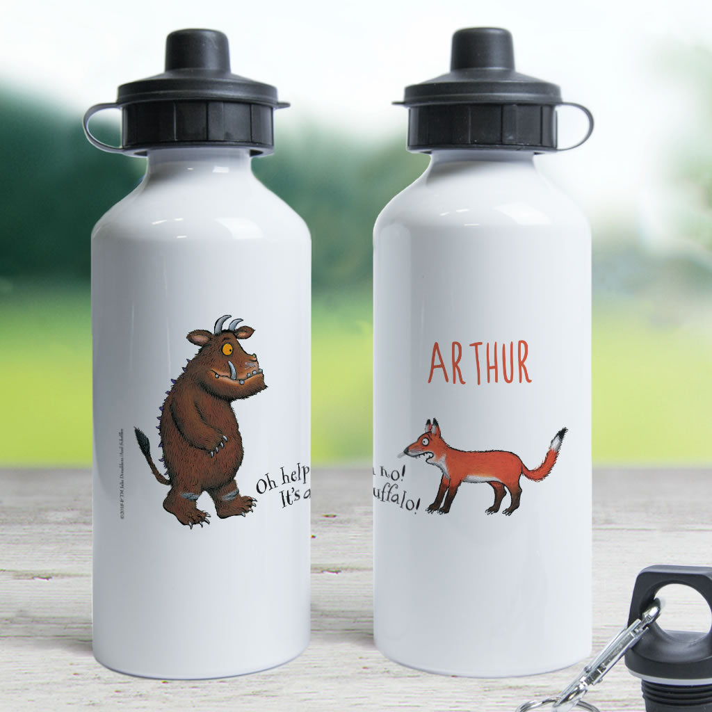 Gruffalo and Fox Personalised Water Bottle (Lifestyle)
