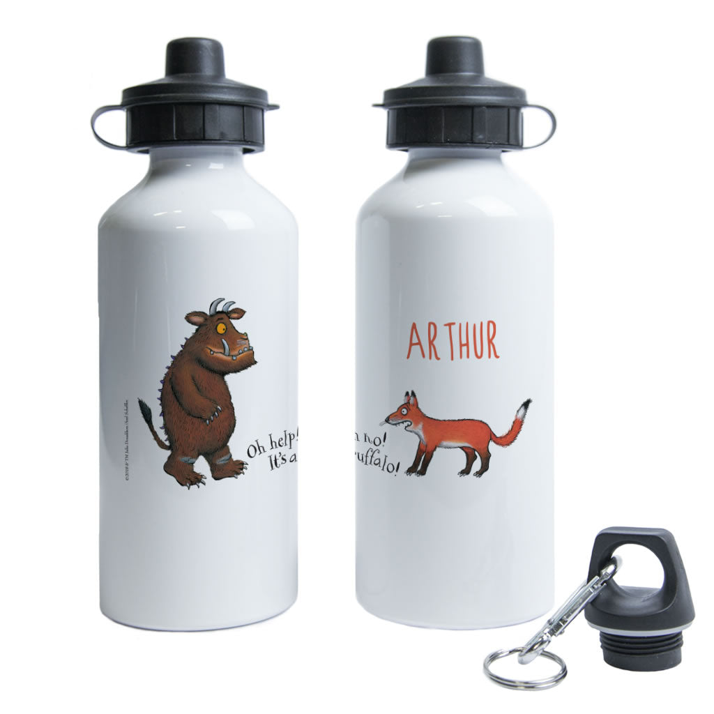 Gruffalo and Fox Personalised Water Bottle