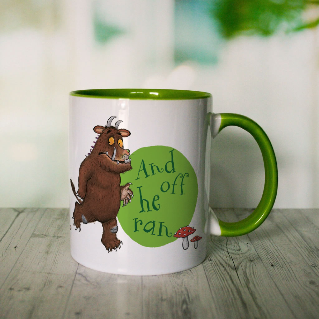 Green Fox and Gruffalo Personalised Coloured Insert Mug (Lifestyle 2)