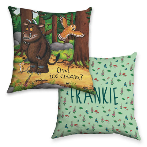Owl Icecream Gruffalo Personalised Cushion
