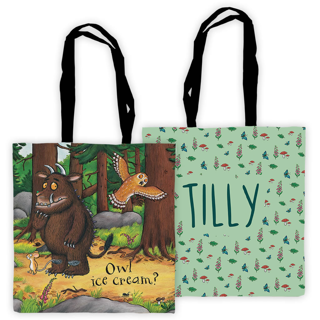 Owl Icecream Gruffalo Personalised Edge to Edge Tote Bag