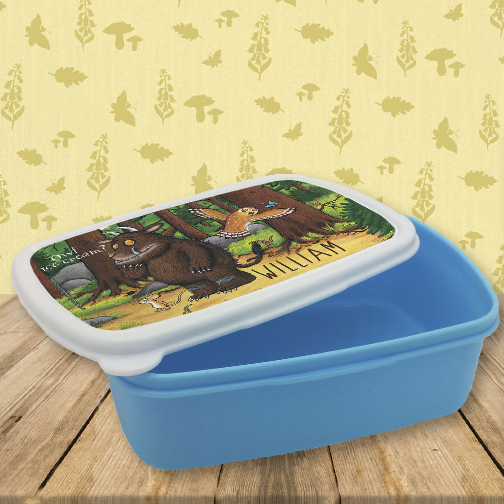 Gruffalo and Owl Personalised Lunch Box