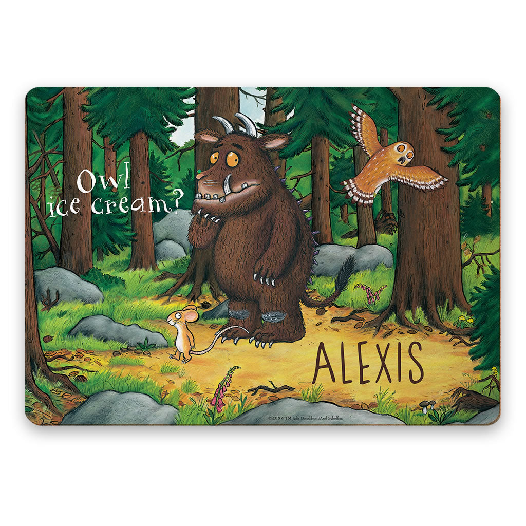 Gruffalo and Owl Personalised Placemat