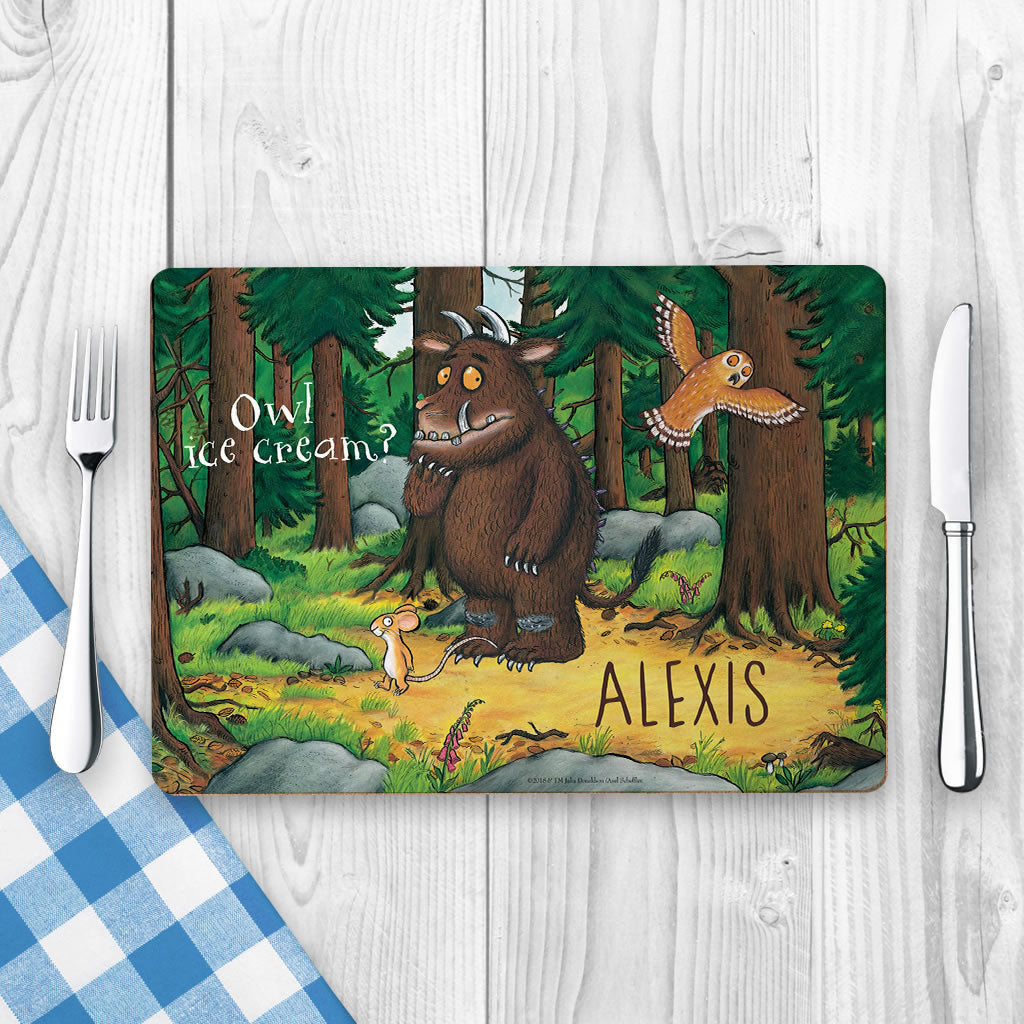 Gruffalo and Owl Personalised Placemat (Lifestyle)