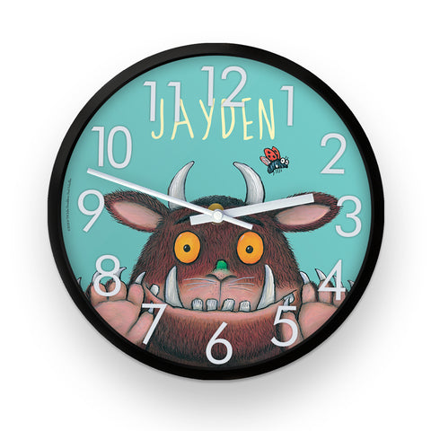 Blue Gruffalo  Personalised Clock