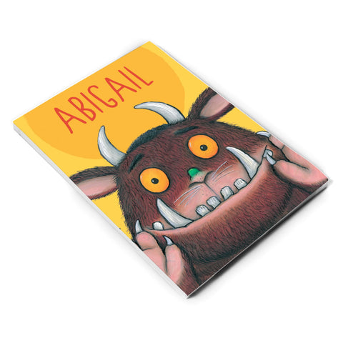 Yellow Gruffalo Personalised A5 Notepad