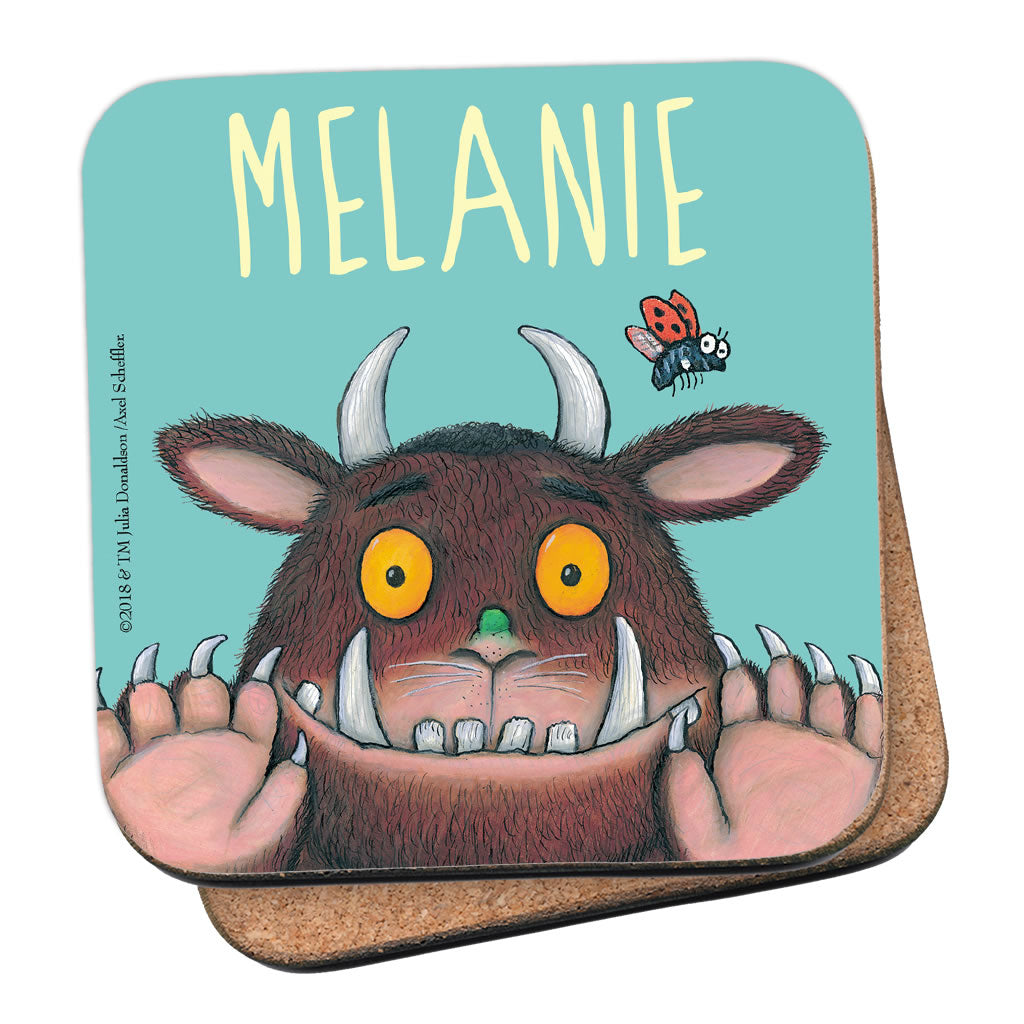 Blue Gruffalo Personalised Coaster