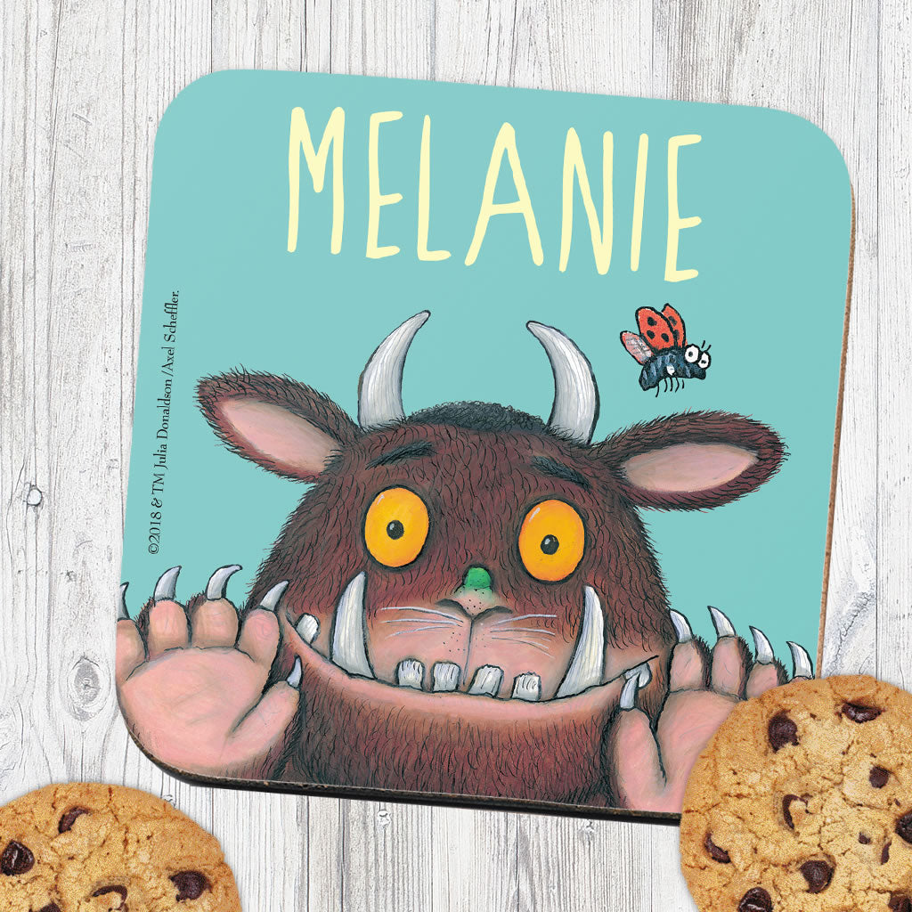 Blue Gruffalo Personalised Coaster (Lifestyle)