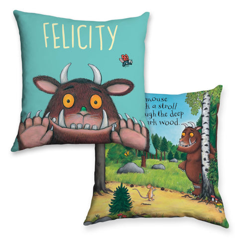 Blue Gruffalo Personalised Cushion