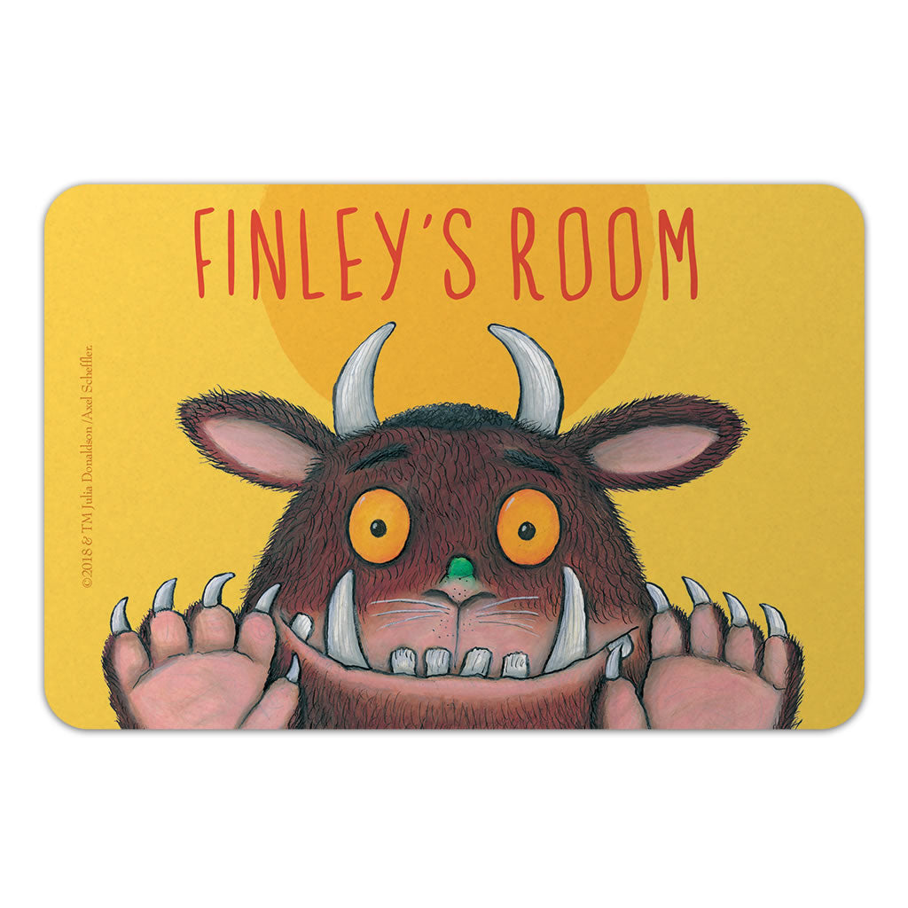 Personalised Yellow Gruffalo Personalised Door Plaque