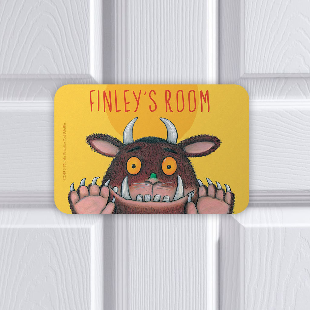 Personalised Yellow Gruffalo Personalised Door Plaque (Lifestyle)