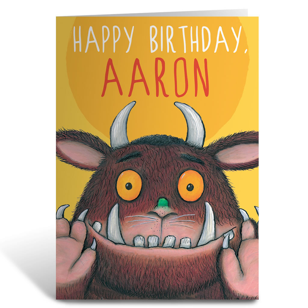 Yellow Gruffalo Personalised Greeting Card