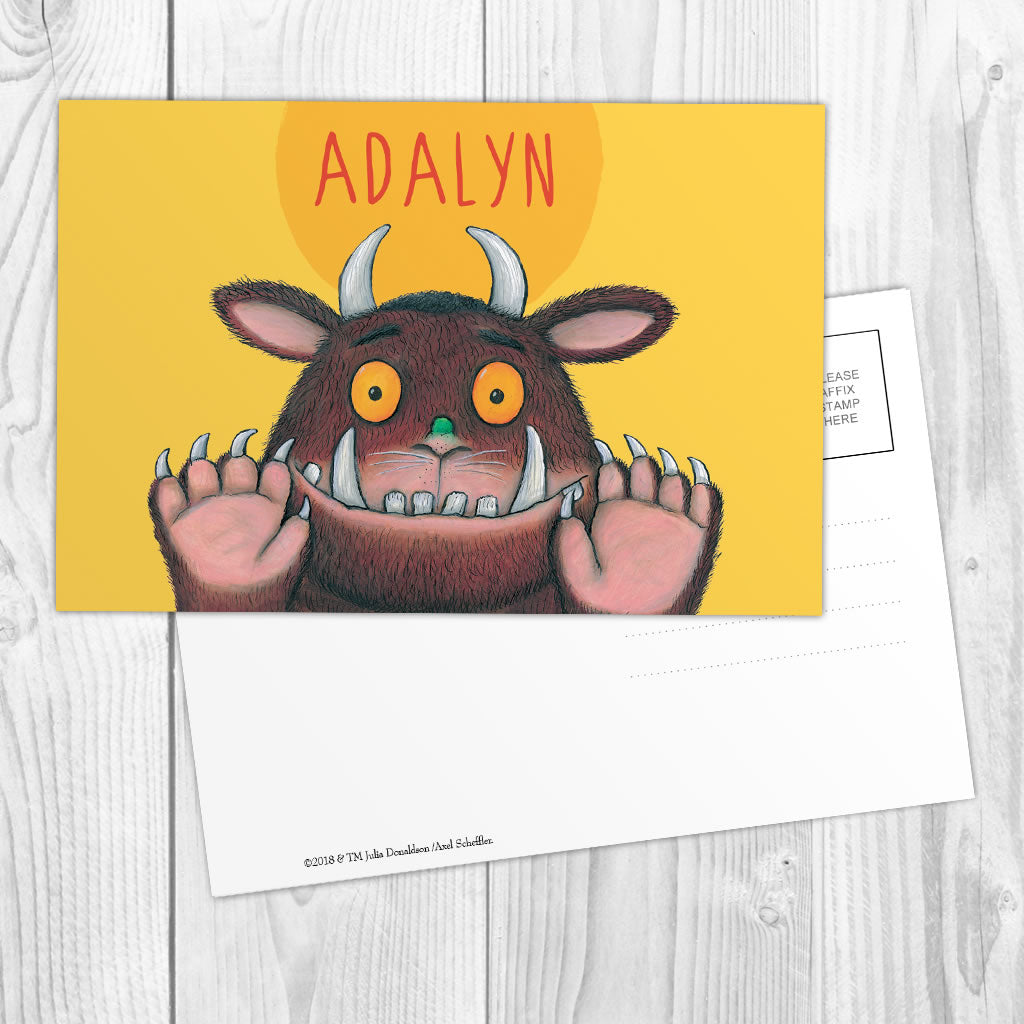 Yellow Gruffalo Personalised Postcard (Lifestyle)