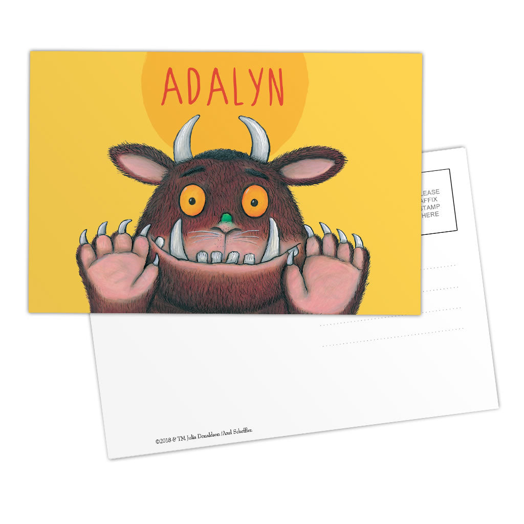 Yellow Gruffalo Personalised Postcard